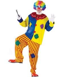 Fun World Women's Big Top Clown Adult Costume, Multi, Standard ()
