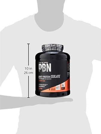 PBN - Premium Body Nutrition - Aislado de proteína de suero de leche en polvo (Whey-ISOLATE), 2,27 kg, sabor fresa (75 porciones)