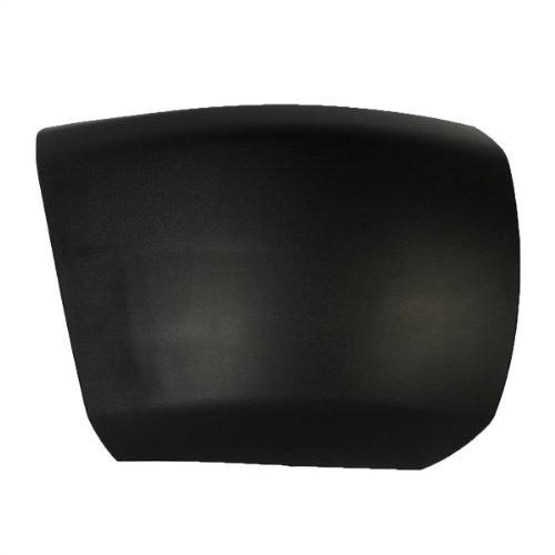 CarPartsDepot, Passenger Side Front Bumper End Side Cover Matte Black Without Fog Lamp Hole RH, 355-15102-12 GM1005146 15838398