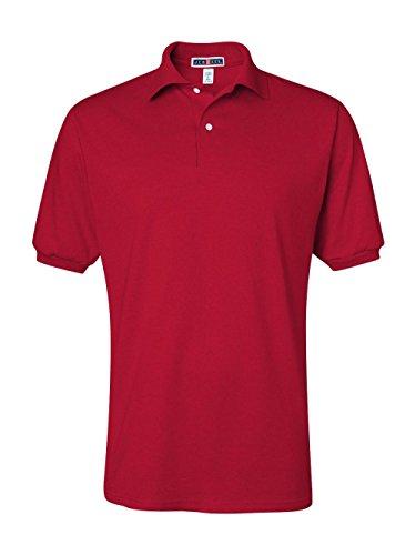 Jerzees Men's Spot Shield Short Sleeve Polo Sport Shirt, True Red, 2X-Large