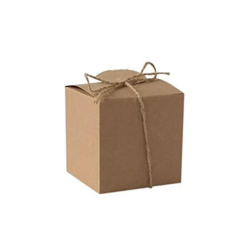 (Wedding Favour Boxes,20 Pcs Gift Box,NszzJixo9,Luxury Wedding Favour Favor Sweet Boxes Place Cards Table Decorations (Brown))