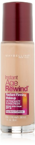 Maybelline New York Instant Age Rewind Radiant Firming Makeup, Creamy Beige 290, 1 Fluid Ounce