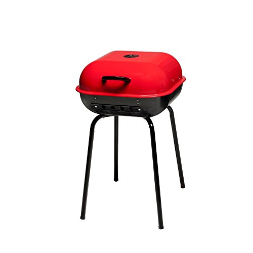 - Americana the Sizzler-Charcoal Grill, Red