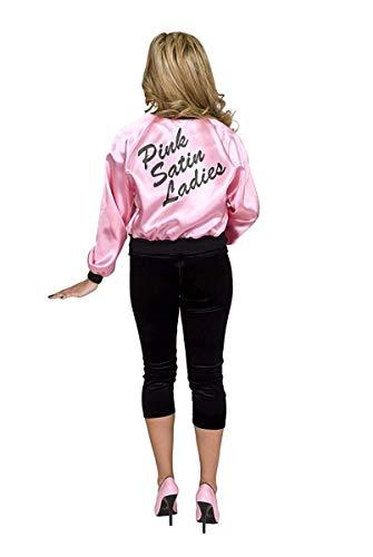 Charades Women's Pink Satin Ladies Costume Jacket, -