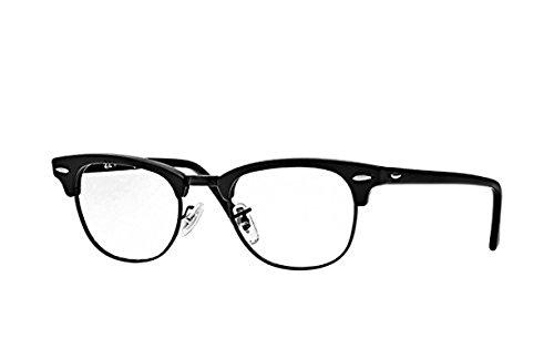 Ray-Ban RX 5154 Clubmaster Eyeglasses Matte Black 49mm & Cleaning Kit - Clubmaster Ray Ban Matte Eyeglasses Black