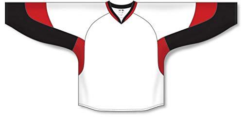 - 2010 Ottawa White Gussets Pro Plain Blank Hockey Jerseys