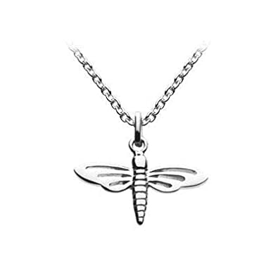 14,16,18 in Sterling Silver Dragonfly Girls Necklace Kids Jewelry