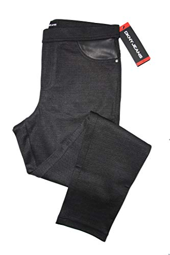 DKNY Pull On Ponte Pant (CHA Charcoal, XL) from DKNY