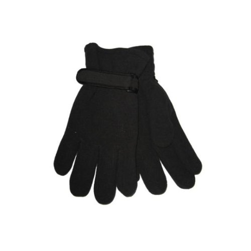 DDI - Mens Black Fleece Gloves (Cases of 144 items)