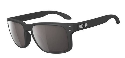 Oakley Holbrook Sunglasses, Matte Black Frame/Warm Grey Lens, One - Men Sunglasses Oakley