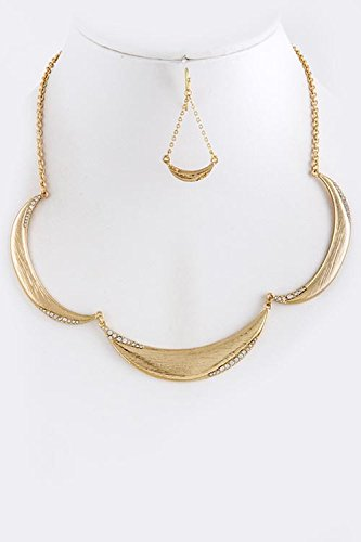 KARMAS CANVAS METAL DIMPLED COLLAR NECKLACE SET - Buy Where Online To Dior