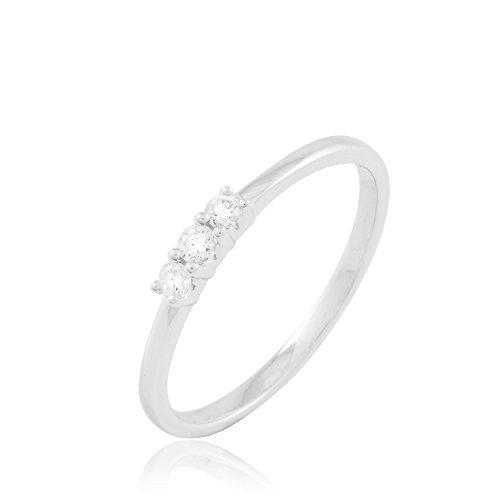 HISTOIRE D'OR - Bague Or et Diamant - Femme - Or blanc 375/1000