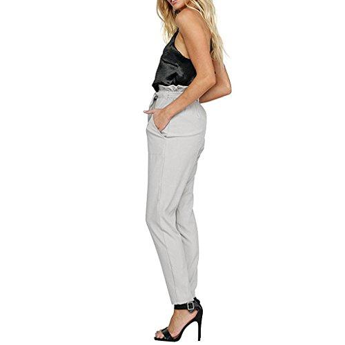 Juleya Femmes élégantes Pantalons Harem à Taille Haute élastique avec  Ceinture Pantalons légers ajustés  Amazon.fr  Vêtements et accessoires deeb79aff48