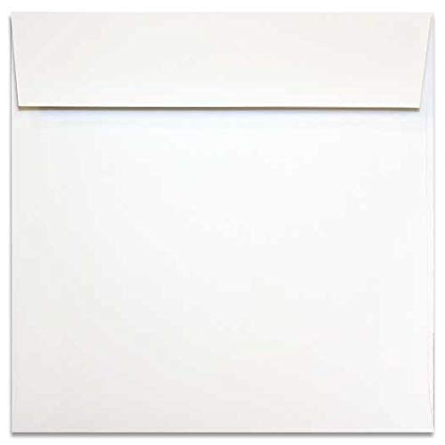 2pBasics Bright White 7 Square (7-x-7) Square Envelopes 25-pk - PaperPapers 104 GSM (28/70lb Text) Economical Square Envelopes -Business, Social and DIY mailing - Square Envelope Mailing
