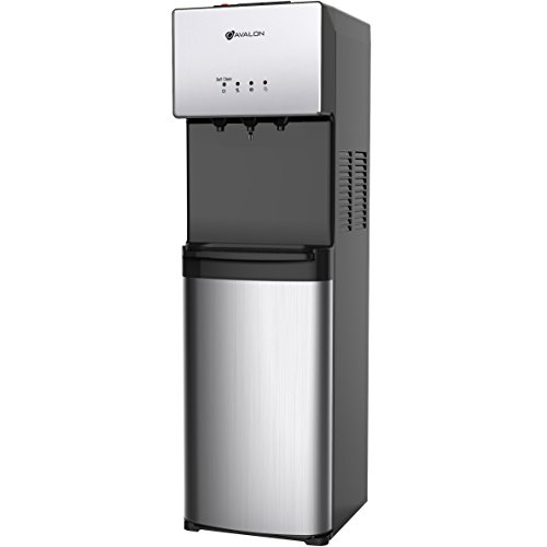 Avalon Limited Edition Self Cleaning Water Cooler Dispenser, 3 Temperature Settings - Hot, Cold & Cool Water, Durable Stainless Steel Construction, Bottom Loading - UL/Energy Star - Lumina Pump Water