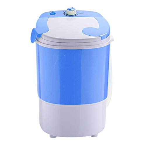 Portable Clothes Washer – Small Semi-Automatic Compact Washing Machine with Timer Control Space Saving for Apartment, Hotel, Home (Blue)