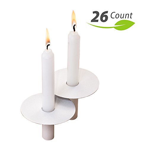 Exquizite 26 Church Candles with Drip Protectors for Devotio