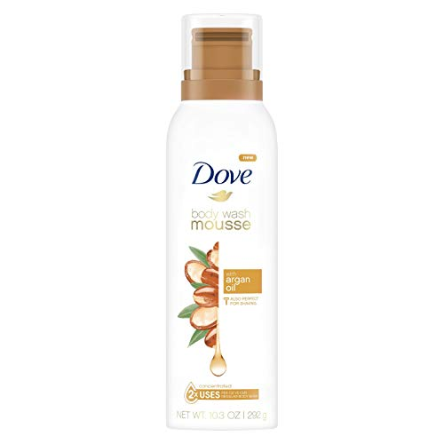 (Dove Concentrated Body Wash Mousse Argan Oil, 10.3 oz)