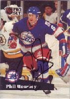 Phil Housley Winnipeg Jets 1991 Pro Set Autographed Card. This item comes with a certificate of authenticity from Autograph-Sports. Autographed