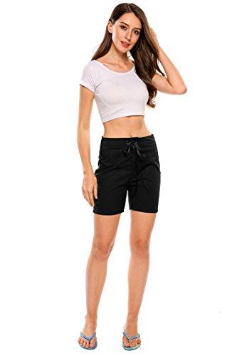 Zeagoo Women Active Yoga Lounge Bermuda Shorts with Pockets