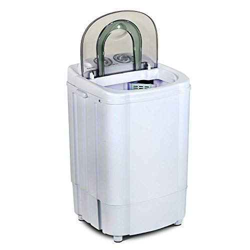 11Lbs Mini Single Tub Washing Machine,Small Portable Compact Washer with Timer Control