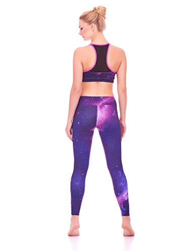 Mio Active Long Purple Galaxy Yoga Pants MS16S2L