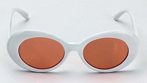 mixte adulte Glasses Ovale orange Elite White 7nY6Ow8