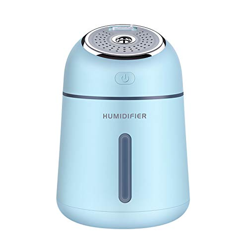 Portable Aromatherapy Air Humidifier USB Mist Maker Air Vaporizer With USB Air Fan And Led Light Aroma Essential Oil Diffuser Blue