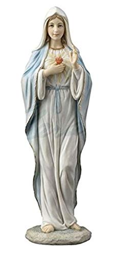 Immaculate Heart of Mary Statue - Virgin Mary The Blessed Mother Sculpture - Gift Boxed