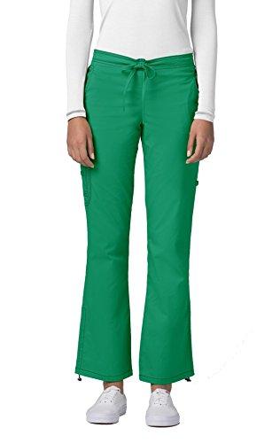 Adar Pop-Stretch Junior Fit Low Rise Boot Cut Bungee Leg Pants - 3102 - Chartreuse - M by ADAR UNIFORMS