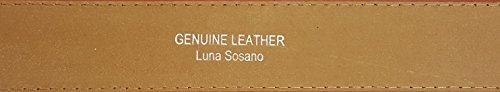 LUNA Premium Basic Genuine Leather Stitching Belt Strap - Black - 3X Large Photo #2