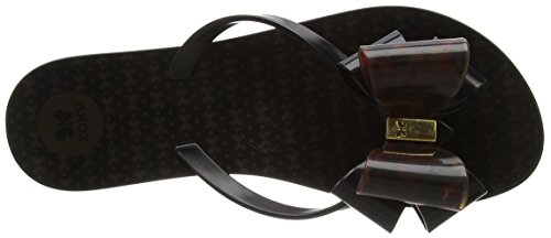 Zaxy Link Twin Bow Flipflop - Sandalias Mujer Black (black/tortoiseshell)