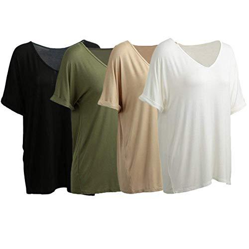 Courtes Bouffant Schwarz Shirt Top Femme Cou Bonne Mode Tshirt Et Manche De Haut V Costume Manches Tee Shirt Chic Qualit Uni Elgante Casual Branch gna6W6q8