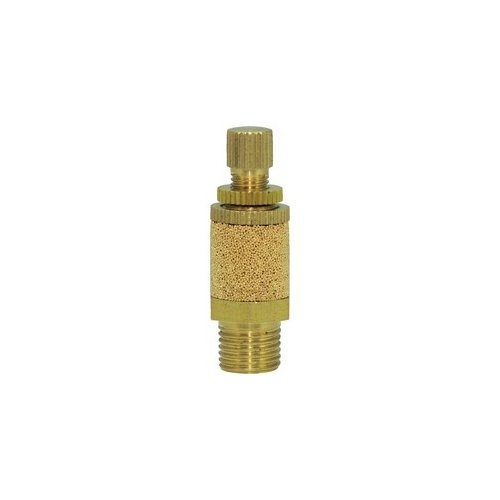 Clippard SCM-P Brass Speed Control Muffler, 1/8'' NPT, Knurled Knob Length Based on Minimum Thread Engagement by clippard