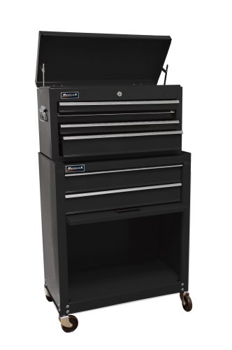 Homak BK07062400 Homewwner's Combo 24Inch Top Chest/Roller Cabinet, Black by Homak Manufacturing