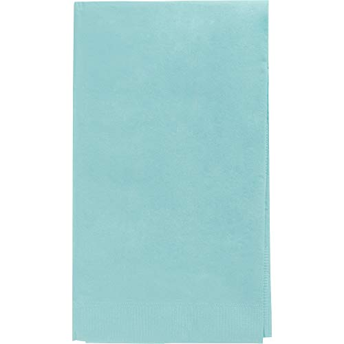 Amscan 63215.121 Robin's-Egg Big Party Pack 2‑Ply Guest Towels, Blue Paper Napkins, 40 Pieces, -