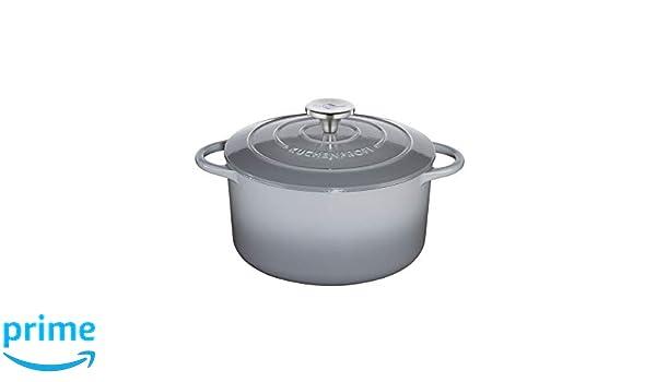 Küchenprofi 0401001924 Provence - Cazuela de hierro fundido esmaltado, Gris: Amazon.es: Hogar