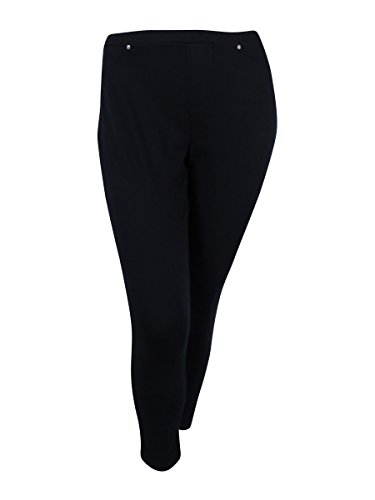 Style & Co. Womens Plus Ponte Comfort Waist Leggings Black - For Styles Women