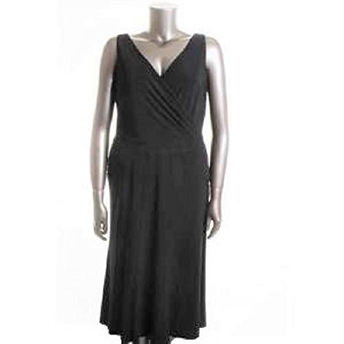 Ralph Lauren Stretch Wrap - Lauren Ralph Lauren $169 Super Stretch Jersey Faux WRAP Black Dress SZ 8 with Tags