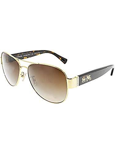Coach Womens L138 Sunglasses (HC7059) Tortoise/Brown Metal - Non-Polarized - 58mm