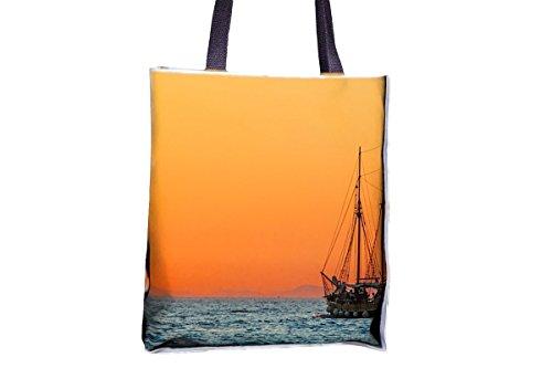Sea, barco de vela, bota, remolque de barco estampado, populares totes, populares bolsas de bolsos para mujer, bolsa de bolso de mano profesional, grandes bolsas de bolso de mano profesional, mejores