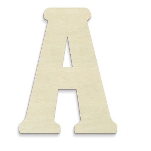 UNFINISHEDWOODCO Unfinished Wood Letter, 15-Inch, Monogrammed A, Large