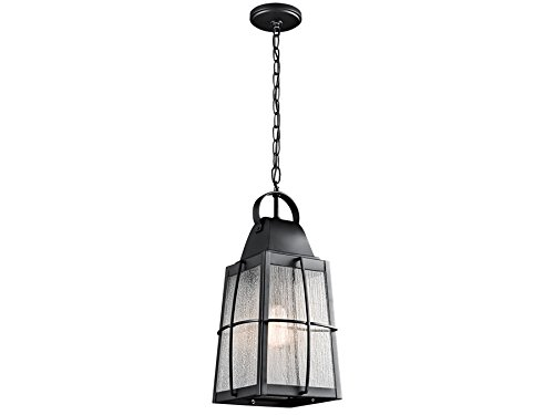Kichler 49556BKT One Light Outdoor Pendant - Bellacor Metal Chandelier