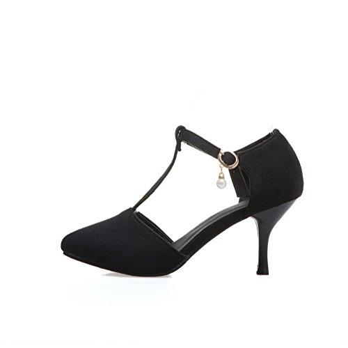 Wedge dames Zwarte Suede 1to9 sandalen tqwvFxg