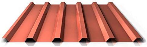 Chapa trapezoidal metálica de techo PS35/1035TRA, perfilada, material de acero, grosor 0,40 mm, revestimiento de 25 μm, color verde oliva: Amazon.es: Bricolaje y herramientas