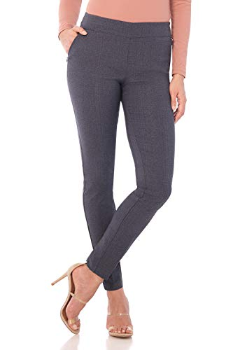 - Rekucci Women's Ease in to Comfort Modern Stretch Skinny Pant w/Tummy Control (12SHORT,Indigo Tartan)