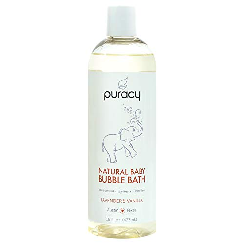 Puracy Natural Baby Bubble Bath, Lavender & Vanilla, Tear-Free, Sulfate-Free, Hypoallergenic, 16 Ounce