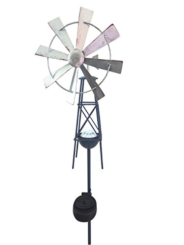 Headwind Consumer Products 830-1532 Solar Stake Light Metal Windmill