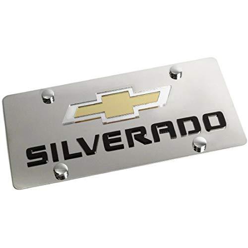 Eurosport Daytona License Plate for Chevrolet Silverado Chrome Stainless Steel - 1319N2-1