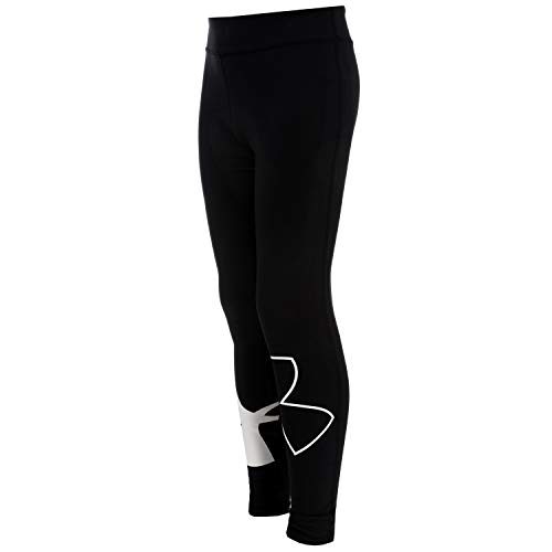 Under Armour Kids Girl's Favorite Knit Leggings (Big Kids) Black/White Large by Under Armour (Image #3)